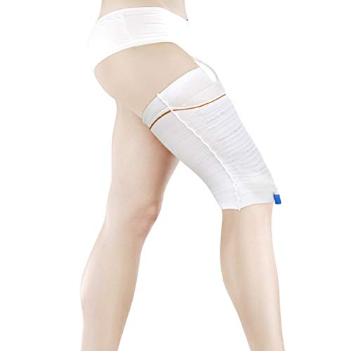 Urine Leg Bag Holder Secure Health Care Catheter Sleeve for Incontinence, Washable, Comfortable, Free, and Easy Walking (2 Pack, L)