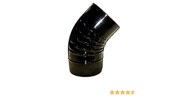 Wolfpack 22011112 Codo para Estufa Negro 120 mm: Amazon.es: Bricolaje y herramientas