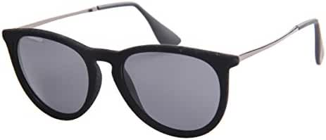 SojoS Unisex Velvet Frame Erika Round Polarized Sunglasses Men Women Glasses