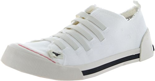 Fashion Joint - Rocket Dog Womens Joint Fashion Sneakers,Off White Canvas,6.5