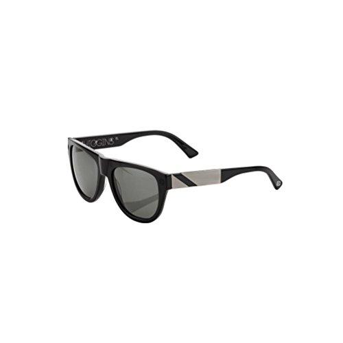 100% Adult Higgins Sunglasses, Gloss Black/Brush Aluminum, One - Sunglasses Superbike