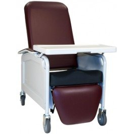 LifeCare Convalescent Recliner with Saddle Seat and Tray 585S by Winco