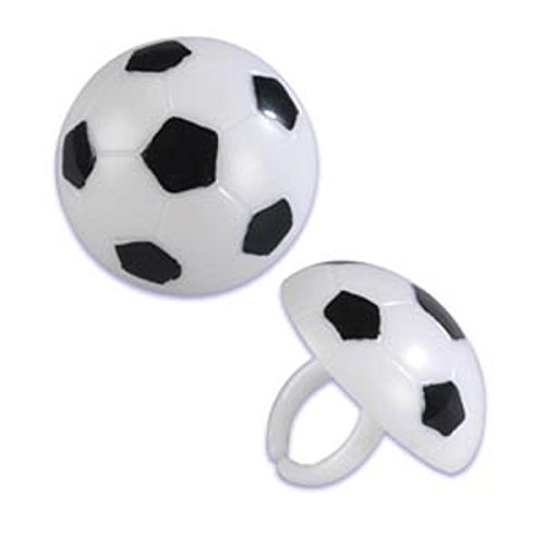 Soccer Ball Cupcake Rings - 24 ct by Bakery Supplies -
