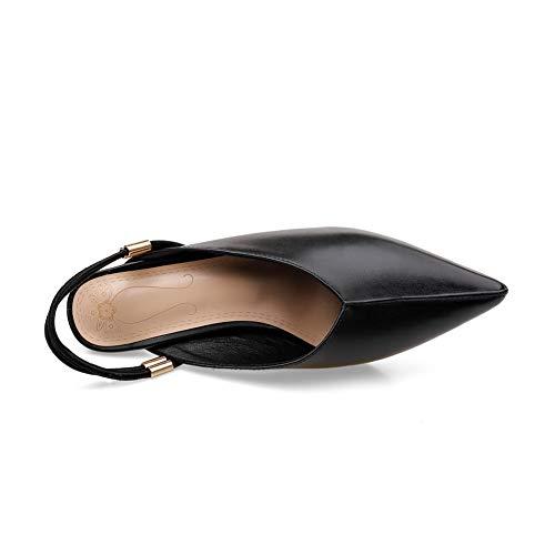 36 Sandales 5 Compensées Noir MJS03531 Femme Noir 1TO9 nfw7YOqZp