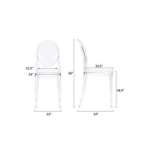 Poly and Bark Burton Side Chair in Clear (Set of 4) by POLY & BARK (Image #6)