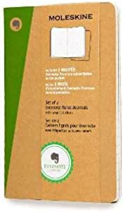 Moleskine Evernote Journal With Smart Stickers Soft Cover Pocket 3 5 X 5 5 Ruled Lined Kraft Brown Set Of 2 Books Office Products