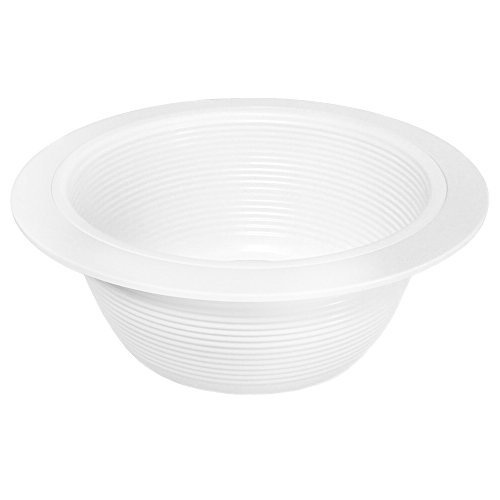 12 Pack - 6'' Inch White Baffle Recessed Can Light Trim by Elite Lighting (Image #1)