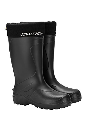 Leon Boots Explorer Unisex Ultralight Waterproof Boots, Warm Removable and Machine Washable Lining, Size US Men's 9, EU 42, Black