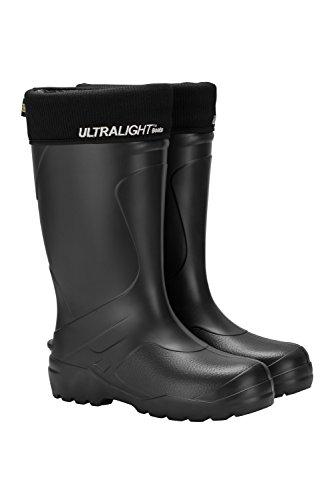 Leon Boots Explorer Unisex Ultralight Waterproof Boots, Warm Removable and Machine Washable Lining, Size US Women's 8-1/2, EU 39, Black