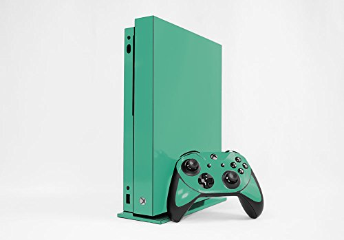 Microsoft Xbox One X Skin (XB1X) - NEW - TEAL TURQUOISE system skins faceplate decal mod