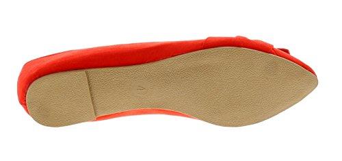 Apache Damen Flache Spitzen Ballett Stil Schuh mit Mikrofaser oben Drapierte Stoff, Schleife Effekt Vorne von Schuh, Hinzufügen Eines gekleidete Element und Luxuriös Ausführung T