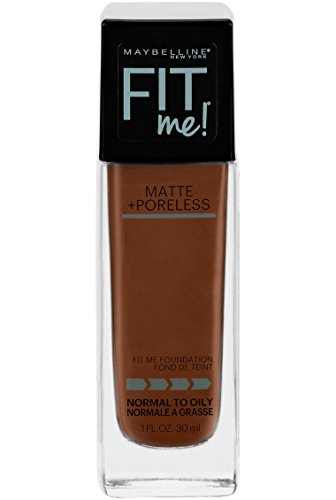 (Maybelline Fit Me Matte + Poreless Liquid Foundation Makeup, Deep Bronze, 1 fl. oz. Oil-Free Foundation)