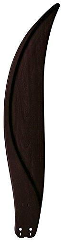 Fanimation B6840DWA Curved Carved Wood Dark Walnut Blades for Big Island, 36-Inch, Set of 5 by Fanimation