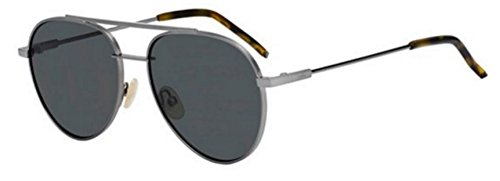 New Fendi AIR FF 0222/S KJ1/M9 Ruthenium Grey/Dark Grey Sunglasses