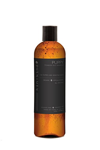 kin+kind Puppy Shampoo: Tearless, Natural, Organic, Hypoallergenic, and Moisturizing for Puppies and Sensitive Dogs, 12oz