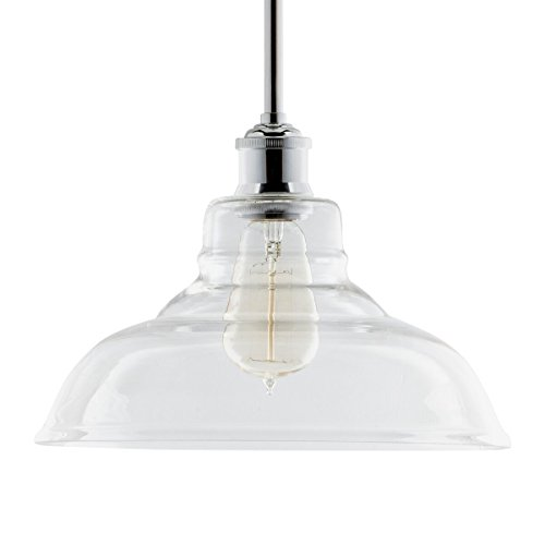 Lucera Contemporary Kitchen Pendant Light - Chrome Hanging F