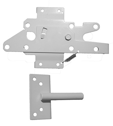 Heavy Duty Stainless Steel PVC/Vinyl Fence Gate Latch and Screws-WHITE