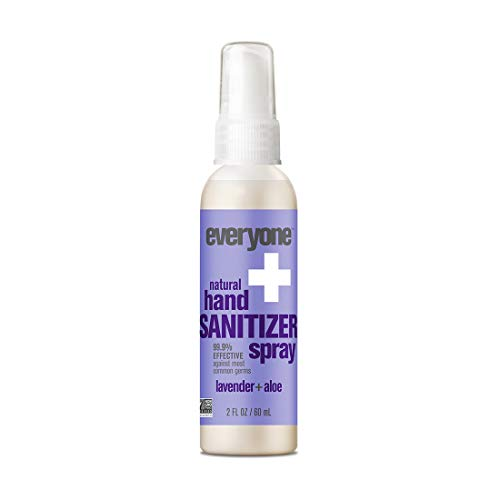 - Everyone Hand Sanitizer Spray, Lavender and Aloe, 2 Ounce, 6 Count