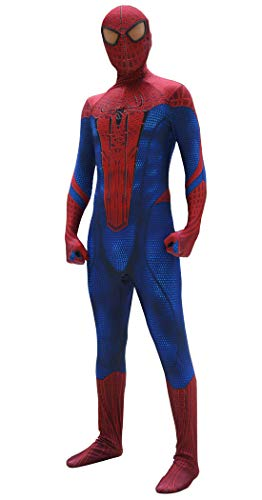 ourworth The Amazing Spiderman Costume The Amazing Spiderman Suit for Kids and Adults Cosplay Best Halloween Costume (Kids-M)