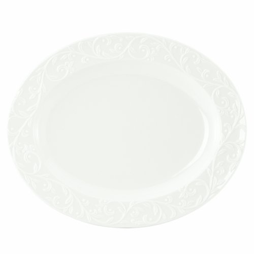 Lenox Opal Innocence Carved 14-Inch Medium Oval (Dishwasher Safe Oval Platter)