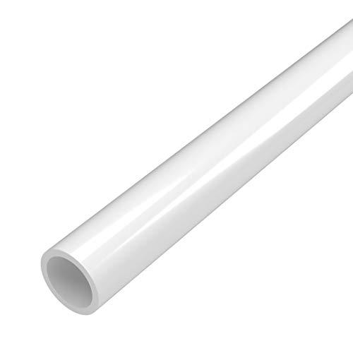 FORMUFIT P012FGP-WH-5 Schedule 40 PVC Pipe, Furniture Grade, 5, 1/2 Size, White