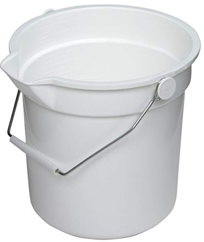 Continental Huskee Plastic White Bucket, 10 Quart - 12 per case.