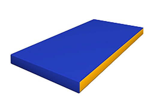 Gymnastics Blue Soft Mat for Kids / (20'' X 40'' X 4'') / Playground Indoor Sport Matting / Childrens Large Washable Mats for Home Play / Non Slip Thick Mat for Front Hallway / Cheap Fold up Playroom Mat by sportkid