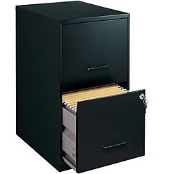 Home Office 2 Drawer Black-colored Steel File Cabinet (Model 14341) by Office Designs