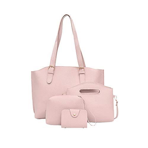 le 4 ❤️ da a Zaino Set donna Yesmile Tote a donna per con Pink tracolla Card da Messenger chiusura tracolla borse Borsa 8xwq5CwF