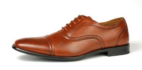 Delli Aldo Fashion Oxfords Mens Dress Shoes Cap Toe Brown