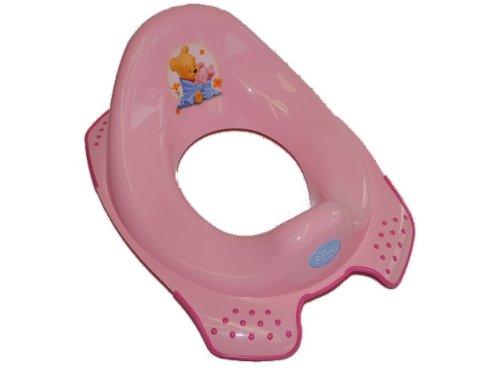 Unbekannt Toilettensitz Winnie the Pooh - rosa pink Bär Toilettentrainer für Kinder Kinder-Land
