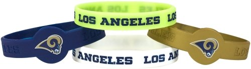 aminco NFL Los Angeles Rams Silicone Bracelets, 4-Pack