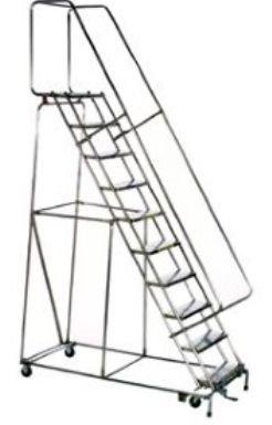 Ballymore/Garlin Enterprises High Access Stainless Steel Ladders - With 20 I - Access Steel Ladder