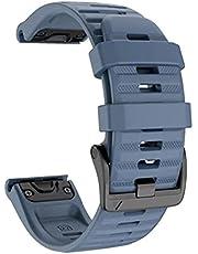 Dado Silicone Replacement band 22 mm Compatible with Garmin watch Fenix 5/Fenix 6/ Fenix 6 Pro/Fenix 5 Plus/Fenix 5/ Approach S60 Smartwatch strap