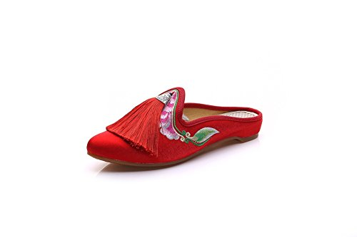 Lazutom femme Chaussons Chaussons Lazutom pour Red rOraqwI