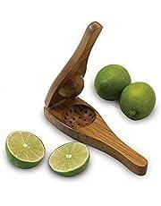 Garden of Arts Stylish Handicrafts Wooden Brown Lemon Squeezer