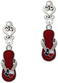 Texas Flip Flop - Filigree Heart Earrings