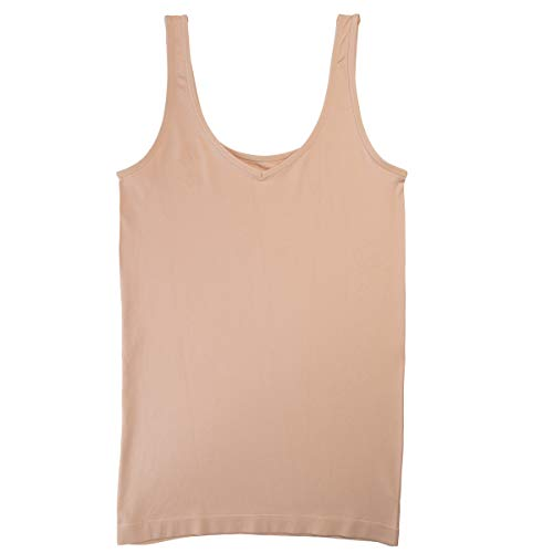 ELLEN TRACY Essentials Reversible Camisole Medium Ivory Tan