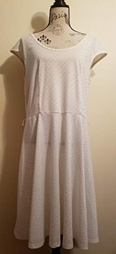 White Sundress w/Raised Gold Dots (Size 14/16) by Brix Soap