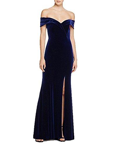 Kleider A Brautjungfernkleider Cocktail Lang Schlitze Festkleider mit Navy Abendkleider Blue Line xOAPX