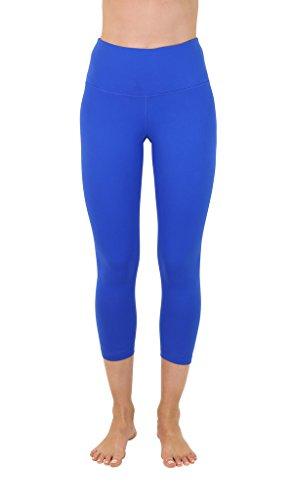 - 90 Degree By Reflex – High Waist Tummy Control Shapewear – Power Flex Capri- Lapis Blue - XS