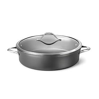 Calphalon Contemporary Hard-Anodized Aluminum Nonstick Cookware, Sauteuse Pan, 7-quart, Black -