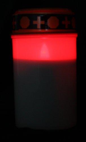LED Grablicht mit Flackereffekt / Betriebsdauer bis zu 1200 Std / inkl. Batterien in weiß