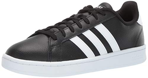 (adidas Men's Grand Court, Black/White Leather 10 M US)