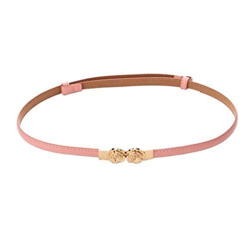 deeseetm-elegant-women-belt-rose-buckle-leather-waistband-accessories-pink