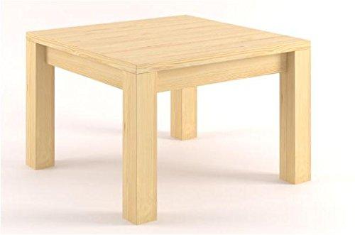 Mesa auxiliar Mesa de pino maciza natural 50 x 75 x 75 cm: Amazon ...