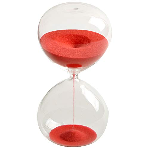 (Graces Dawn Super beautiful transparent glass Hourglass Sand Timer 60 minutes with)