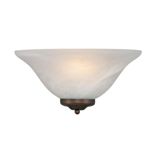 Golden Lighting 7203 Multi-Family One Light Wall Sconce, Pewter, Rubbed Bronze Finish
