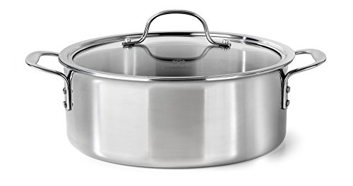 Dishwasher Safe Stainless Steel Dutch Oven (Calphalon Tri-Ply Stainless Steel Cookware, Dutch Oven,)