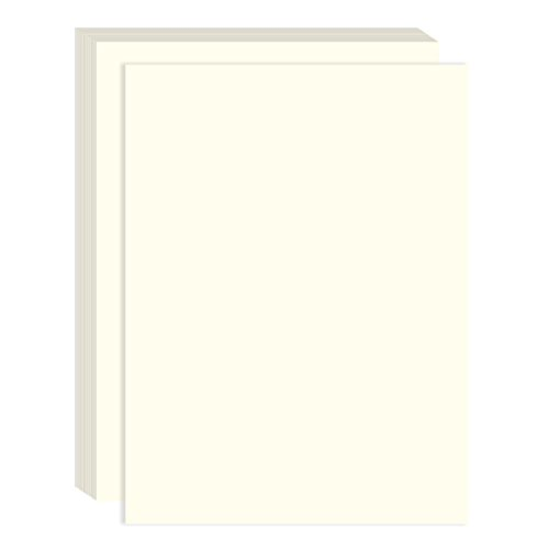 Ivory Cotton Fiber Resume Paper - Perfect for Printing Important Business Documentation, Resumes - 100 Count - 8.25 x 11 ()